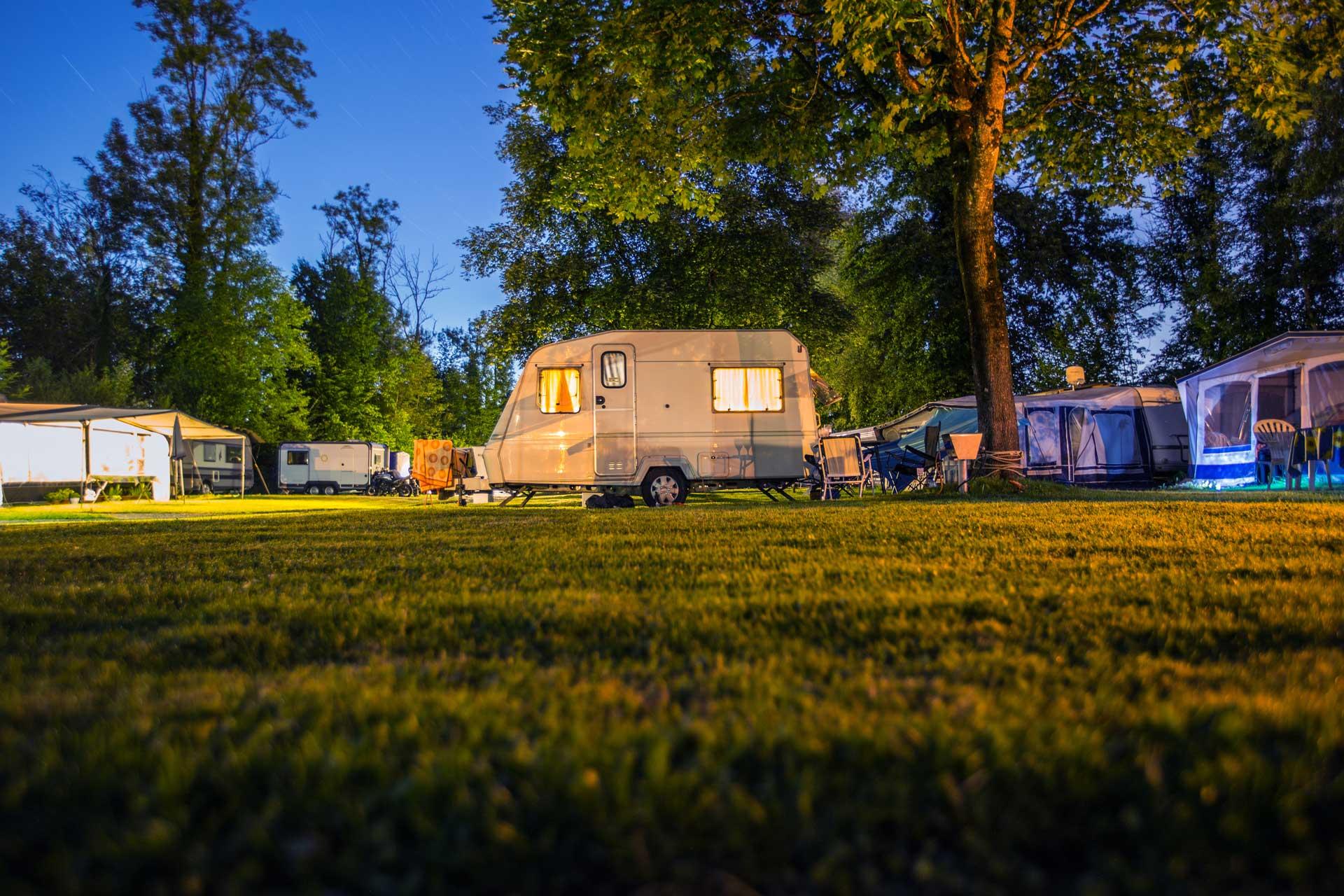 Wohnwagen Camping Campingplatz